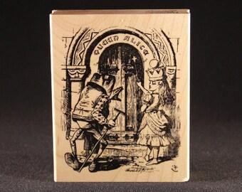 """Queen Alice Door Rubber Art Stamp (3.38"""" x 2.63"""")"""