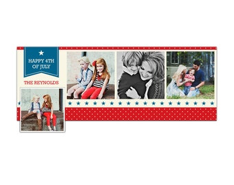 4th of July Facebook  timeline cover - Photoshop Template - E871