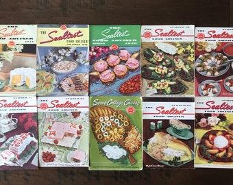 Vintage Sealtest Cookbook Pamphlets, Set of Ten Vintage Advertising Recipie Booklets,1930s 1940s  1950s Spring Recipies Booklet Lot