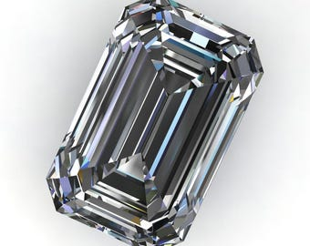 ZAYA moissanite - elongated emerald cut moissanite, loose stones