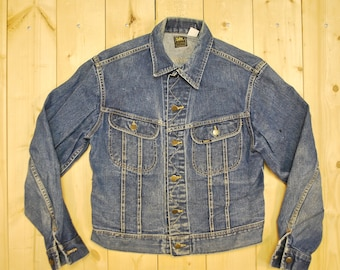Vintage 1960's/70's LEE Denim Jean Jacket / SANFORIZED / Made in the USA / Retro Collectable Rare
