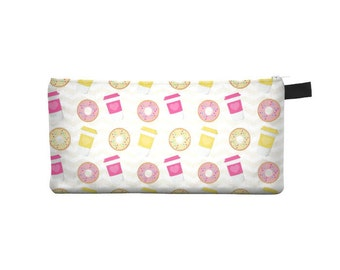 Coffee & Donut Pencil Case - Free shipping USA and Canada