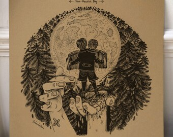 Neutral Milk Hotel - Two-Headed Boy /// Song-inspired illustration /// Square print