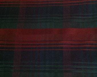 Moire Stripe Fabric, Home Dec Fabric, Jewel Tone Colors of Blue, Burgundy and Green, Christmas  Fabric by the Yard, Cut from the Bolt