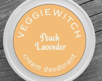 Peach Lavender - Veggiewitch Cream Deodorant - All Natural - Vegan & Organic