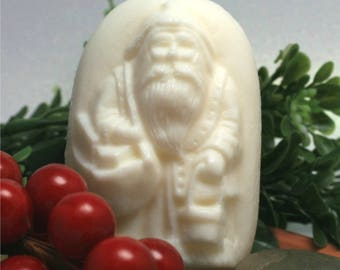 Handcrafted, Father Christmas Candycane-Scented Soap