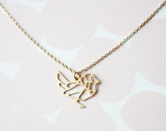 Geometric Bird Necklace | ATL-N-152