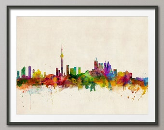 Toronto Skyline, Toronto Canada Cityscape Art Print (299)