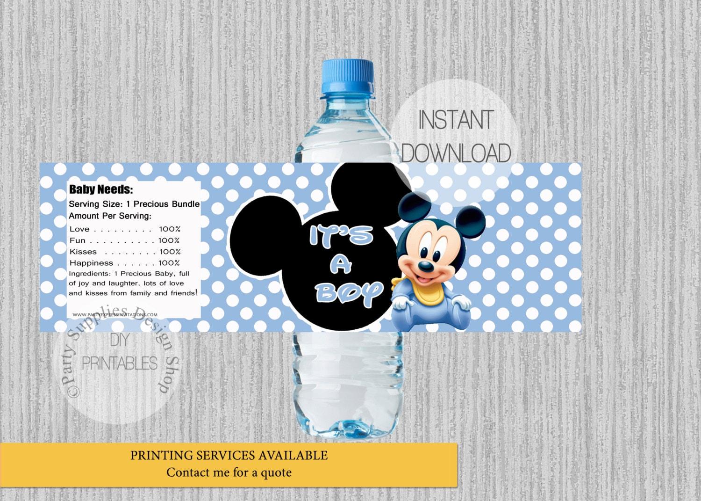 Bebé Mickey es que una botella de agua de ducha de Baby Boy