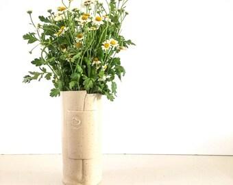 Ceramic Flower Vase, White Pottery Vase, Ceramic Flower Pot, Modern Vase Flower, Modern Home decor Vase, mother Gift, Gift for her