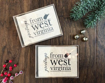 West Virginia Greeting Cards / pack of 5