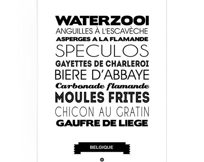 Poster Belgium Foodie