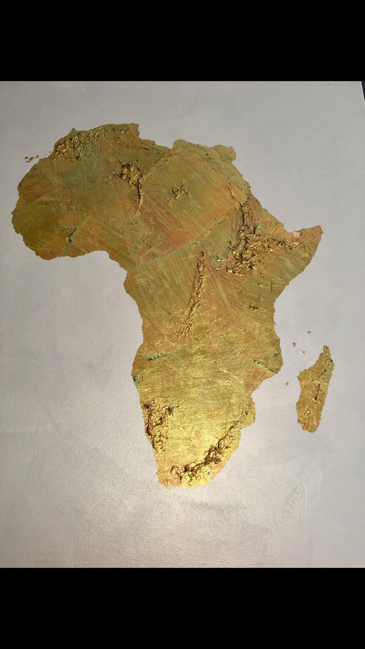Gold leaf map original gold leaf map of the world gold leaf gold leaf map of africa africa map africa love original gold leaf map of africa gumiabroncs Gallery