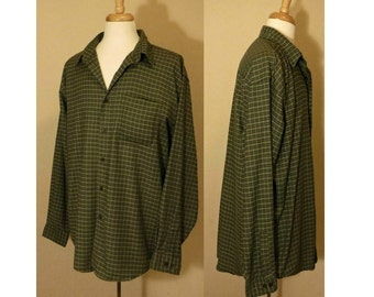 Men's shirt, casual shirt, long sleeve shirt, Oxford shirt, men's Oxford, collar shirt, button down shirt, Plus size, oversized, LL Bean XL