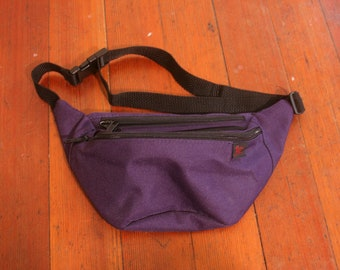 Vintage 1990s Purple Ultra Violet Pocketed Adjustable Outta Here Fanny Pack
