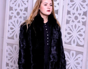 Mink Black Coat Modern