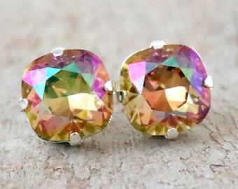Purple Haze | Swarovski Crystal | Cushion Cut | Swarovski Earring | Square Earring | Wedding Jewelry | Gift For Her | Beach Wedding | Silver