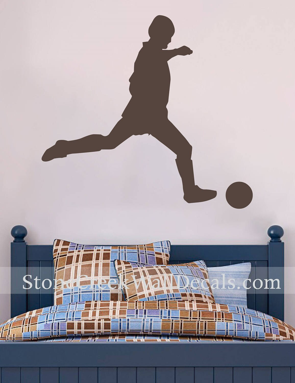 Soccer Decal Soccer Wall Decal Sports Vinyl Wall Decal Boys Room Decor Teen  Boy Room Decor Wall Art Soccer Decor Boy Decals Bedroom Decals