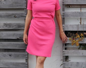 Gorgeous Bubblegum Pink 1960s Dress Suit