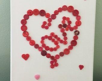 Love Button Art