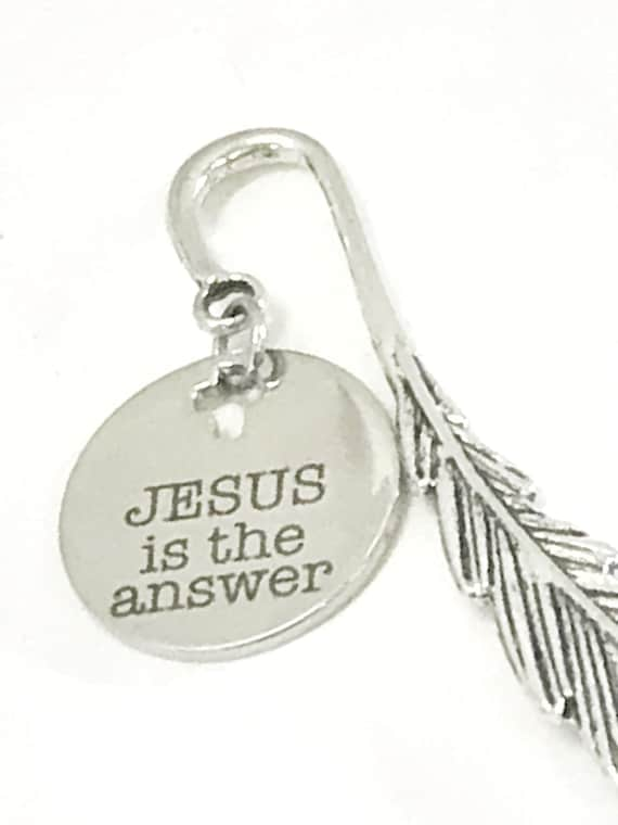 Christian Bookmark, Jesus Is The Answer Bookmark, Christian Gifts, Bible Bookmark, Christian Charm, Sunday School Gifts, Student Gift