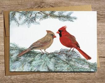 Cardinal Pair- Greeting Card