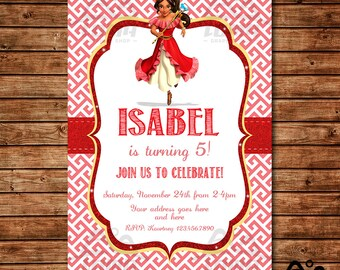 Elena Birthday Invitation, Elena Birthday, Disney Princess Invitation, Princess Birthday Invitation, Elena of Avalor Invite