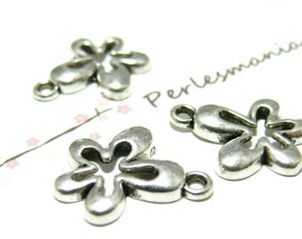 40 silver 70's 2-5515 VAviel ref flower pendants