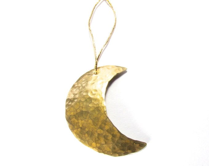 Christmas Tree Moon Ornament, Hand Made Moon Tree Ornament, Xmas Moon, Festive Ornament,