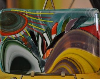 Mish Mash Fused Glass Mosaic Art Piece