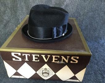 Vintage Stevens Gold Band Beaver Fedora
