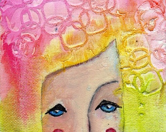 """Aligned, an original 4x6"""" Nixie painting"""