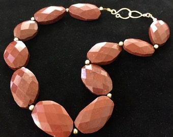 Red Jasper Gemstone Necklace