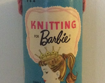 Knitting For Barbie Vintage 1963 Canister Only Display