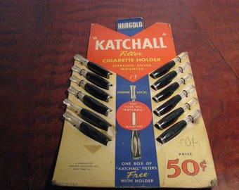 """Vintage Hargold """"Katchall"""" Cigarette Holder Store Display"""