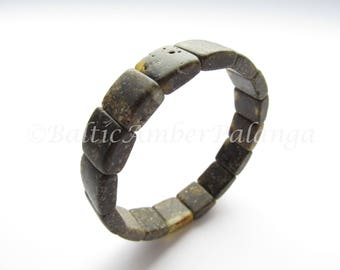 Raw Baltic Amber Men Bracelet