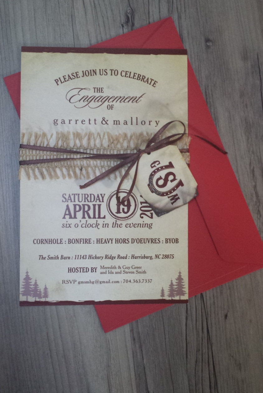 Nature Outdoors Engagement Party Invitation