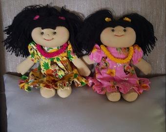 "Hawaiian Plush Keiki Doll 9"" with Muu Muu Dress"