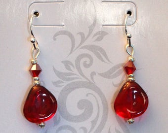 Stunning Red Drop Earrings