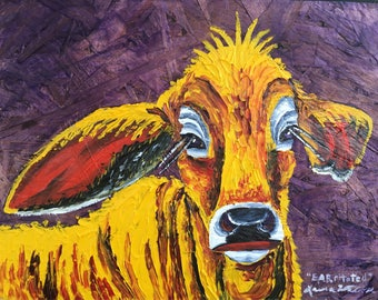 Cow painting original oil painting