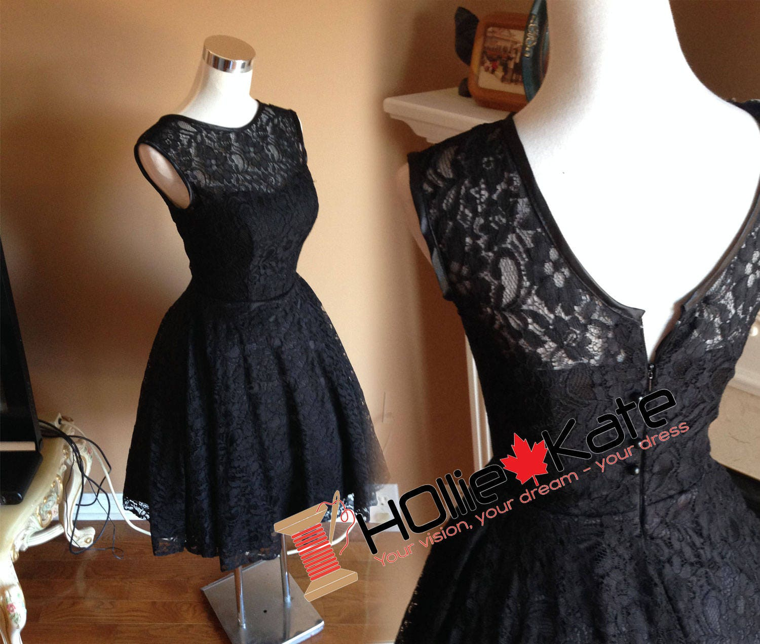 Vintage inspired lace bridesmaid dress audrey hepburn dress zoom ombrellifo Image collections