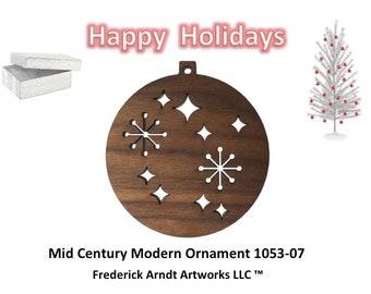 1053-7 Mid Century Modern Christmas Ornament