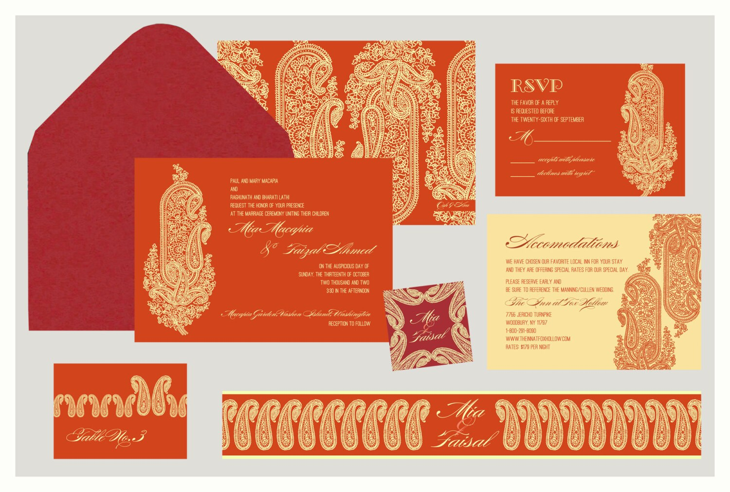 Kashmiri Collection Indian Wedding Invitation: Inspired by