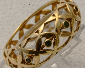 Flower of life gold Alliance and tourmalines