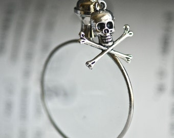 Monocle Necklace with Jolly Roger - Insurance Included in All Shipments