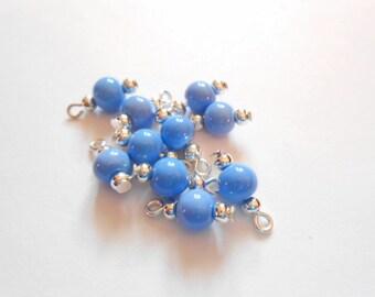 Baby Blue Opaque Dangle Beads