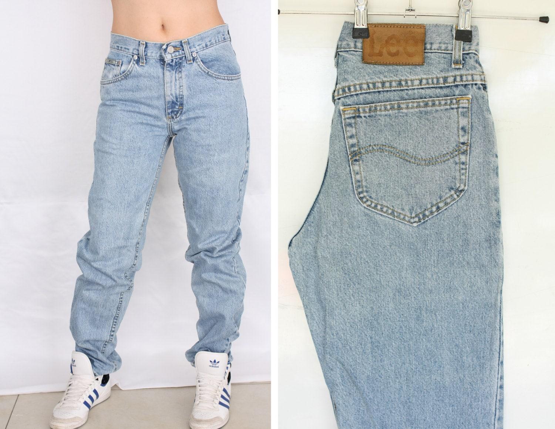 años 80 Lee novio jeans 29 cintura alta los 90 mamá pantalones