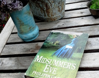 Philippa Carr - Midsummer's Eve (aka Victoria Holt) vintage mystery hardcover, story in Cornwall, England, home staging, library decor