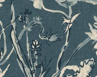 Shower Curtain Garden Party Indigo Floral Blue