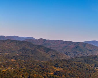 East Tennessee Mountains - Erwin, Unicoi, Nature and Landscape PhotographyNature, Outdoors, Wall Picture, Home Décor, Prints, Trail, Autumn